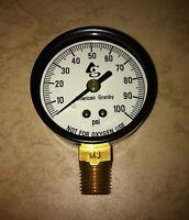 "American Grandby EIPG1002-4LNL Pressure Gauge 0-100 # 2""x 1 4""Lm."