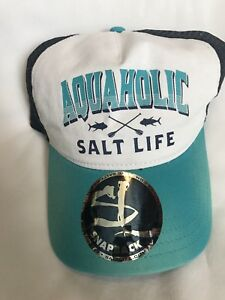 700f8ee63d5 SALT LIFE LIVE SALTY AQUA HOLIC BRAND NEW HAT 889856060303