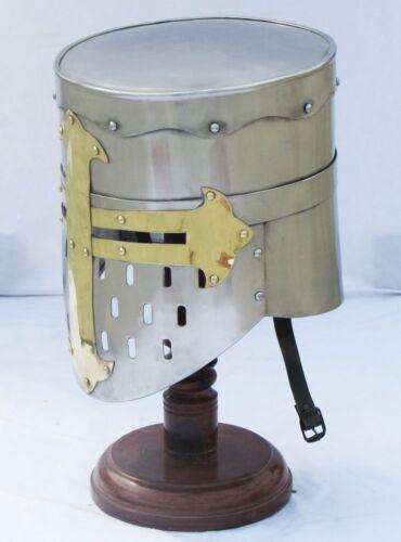 Crusader Knight Templar Casco Romano Armadura Medieval completamente usable con Forro