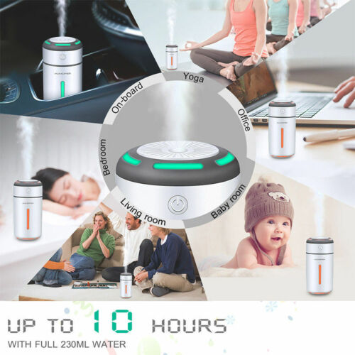 Air Aroma Diffuser LED Ultrasonic Oil Humidifier Essential USB Mist Purifier