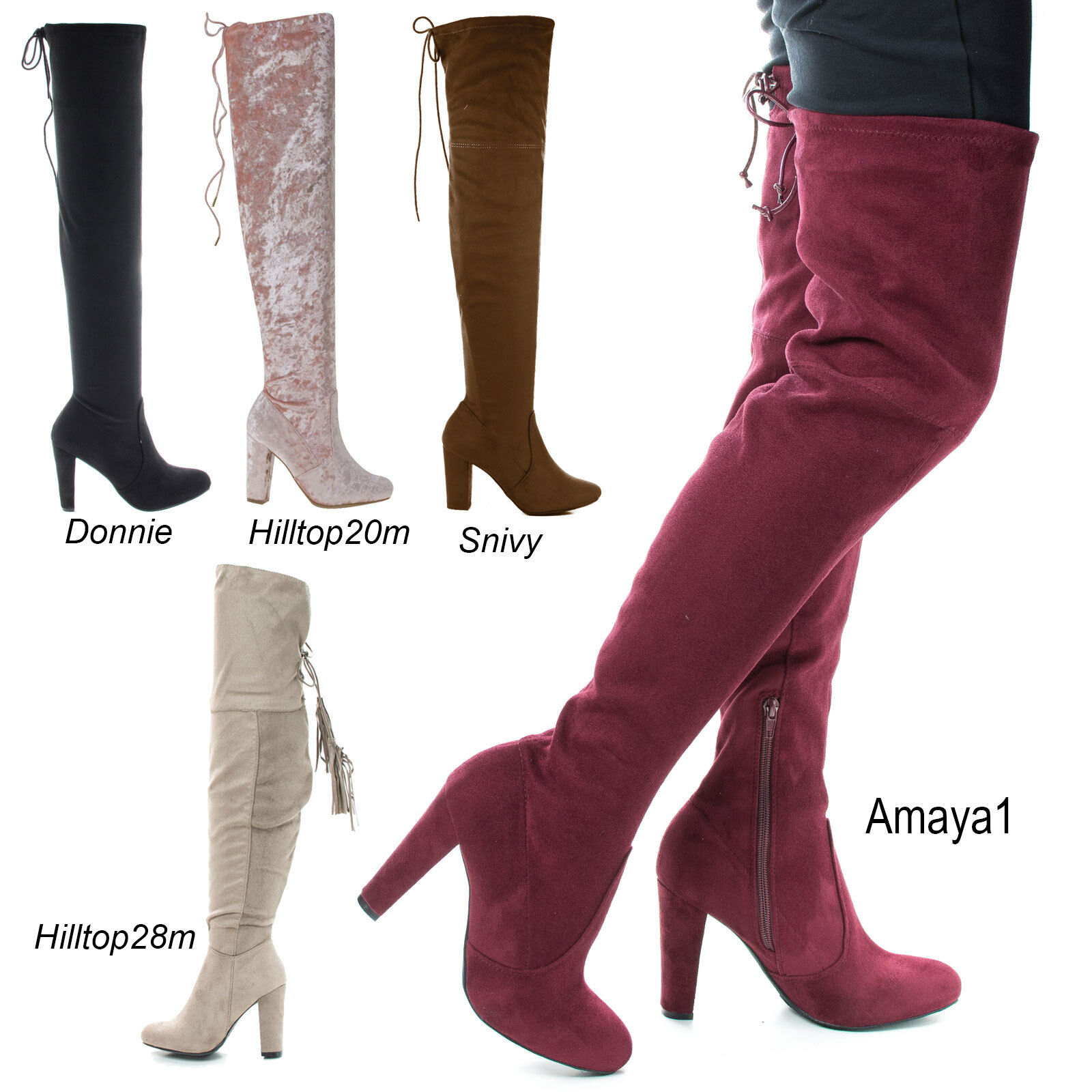 Amaya1 Over The Knee High Heel Boots
