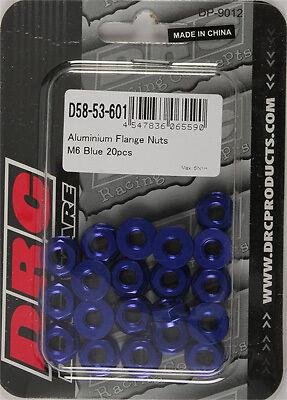 ALUMINUM FLANGE NUTS BLUE M6X12MM 20//PK
