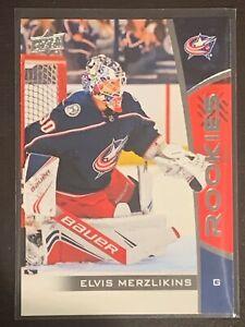 2019-20 Elvis Merzlikins UpperDeck NHL ROOKIES RC Card #16 Columbus Blue Jackets
