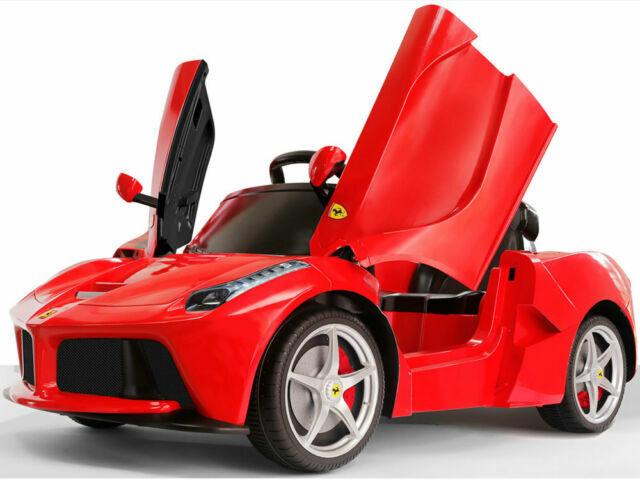 Red Rastar Ferrari Laferrari 12v Electric Kids Ride Car Toy Remote Control For Sale Online Ebay