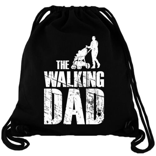 Walking Dad Dead Gym Bag Turnbeutel Rucksack Gymbag Zombie Vater Geschenk Kind