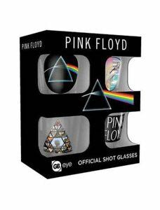 Pink Floyd Shot Glasses Set 4 Bicchierini Official Merchandise