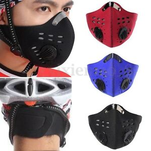 New PM2.5 Gas Protection Filter Respirator Dust Mask Head Cycling Riding Mask