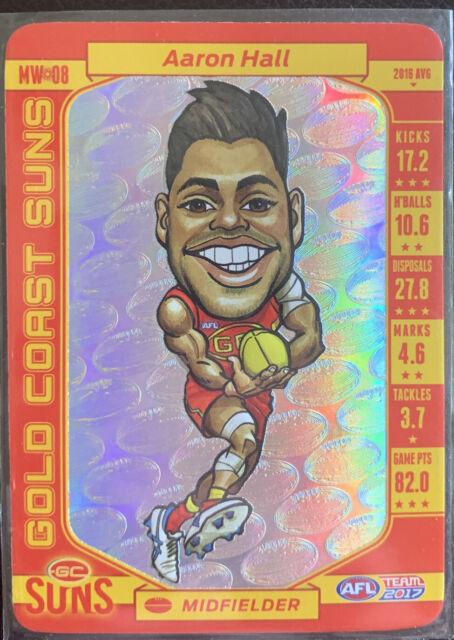 2017 AFL Teamcoach Trading Card Magic Wild Card MW8 Aaron Hall -Gold Coast