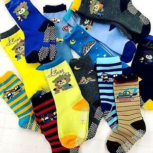 Bling-theme-CALF-FIT-Baby-Kids-Toddler-Boys-Girls-Non-slip-Socks-5-10Set3T-6T