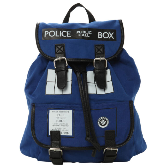 Doctor Who Tardis Police Call Box Buckle Slouch Bag Dr Who Backpack