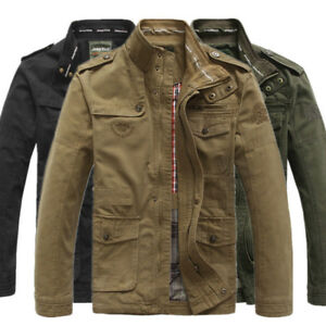New-Jeep-Rich-Men-039-s-Outdoor-Autumn-Cotton-Blend-Zipper-Warm-Coat-Jacket-Outwear