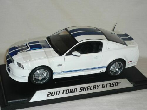 tiras azules 1//18 Shelby collectib blanca Ford Shelby Mustang 2011 gt350 gt-350