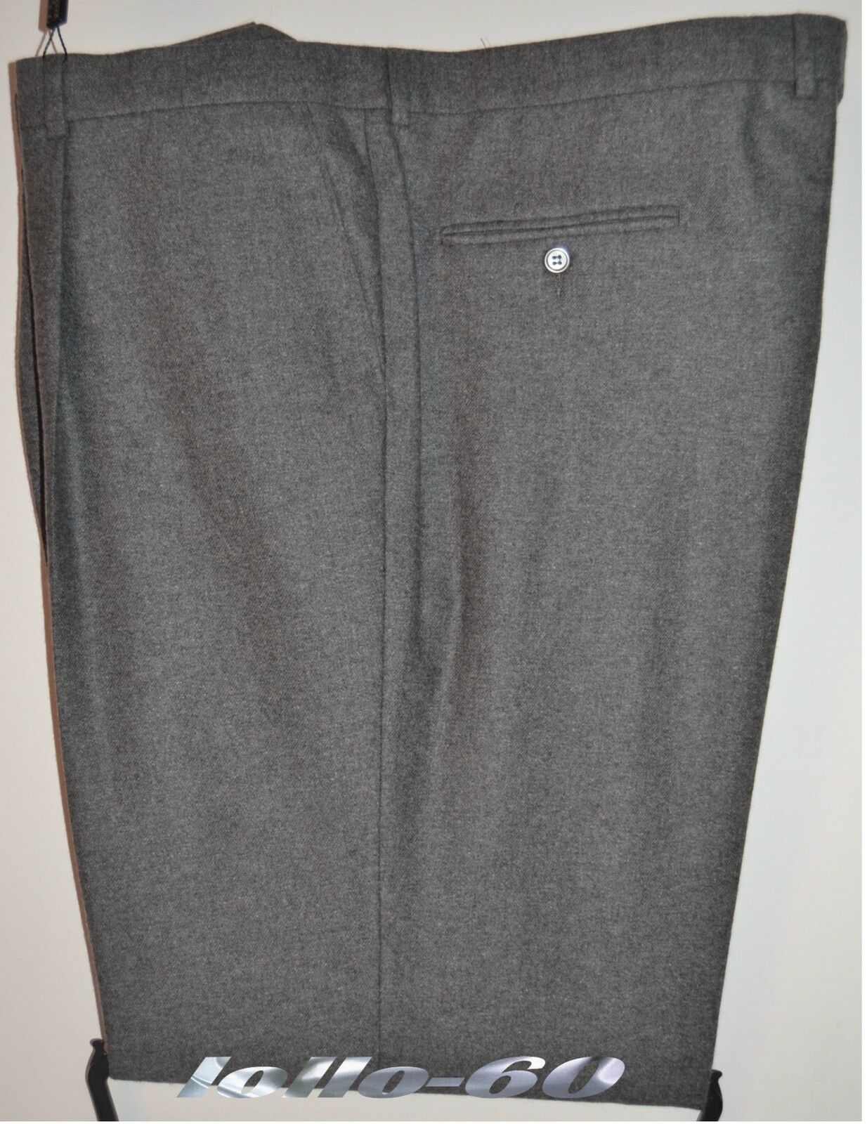 Men's trousers PLUS SIZES size 57 classic flannel wool blend light grey