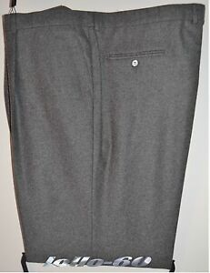 Pantalone uomo TAGLIE FORTI taglia 57 classico flanella misto lana grigio over