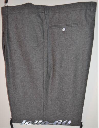 Pantalone uomo TAGLIE FORTI taglia 71 classico flanella misto lana grigio chiaro