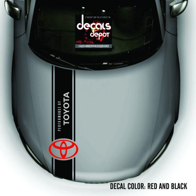 Hood Decal for TOYOTA Camry Corolla Matrix Tundra Rav4  Runner Tacoma etc