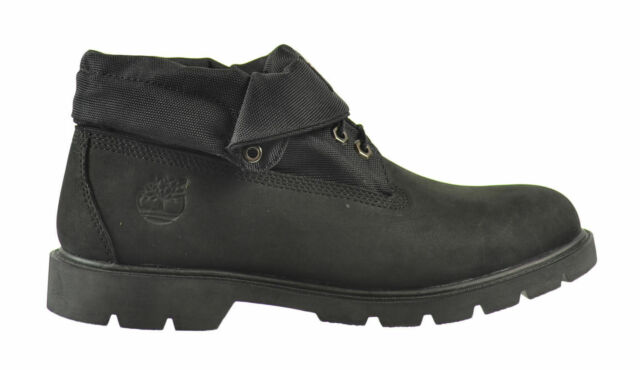 3bd8fa5c44f Mens Timberland Basic Roll Top Boots Black Nubuck Leather Boots TB06635A  6635A