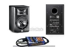 "JBL LSR305 5"" Active Powered 2-Way Home Studio Speaker Monitor + MR DJ 1/4""-XLRM"