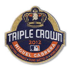 2012 MLB Season Miguel Cabrera Triple Crown Winner Detroit Tigers Jersey Patch