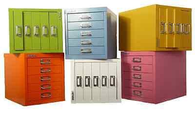 Desktop Metal Filing Cabinet 5 Drawer Filer Office Storage Industrial Stationery
