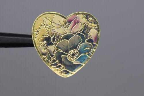 wohl ab 2010 Herz mit Blüten Sehr hübsch gestaltetes Metallknopf-Trio