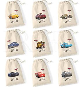 Personalised-Cars-3-Drawstring-Cotton-Canvas-Gym-Pump-PE-Bag