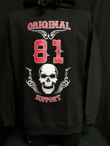"""Hells Angels Original 81 Support  Damen Print Hoodie /"""" SKULL /& WINGS /"""""""