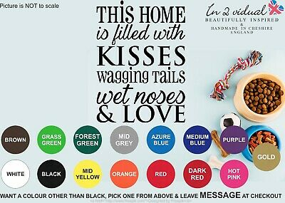 WAGGING TAILS WALL ART STICKER QUOTE DECAL DOG PET ANIMAL PUPPY PAW PRINTS