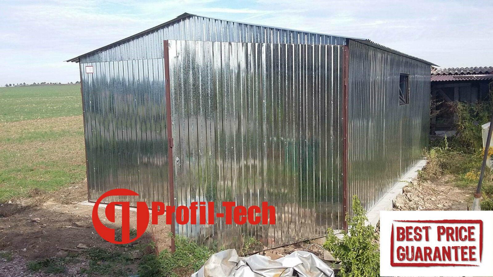 3,5x4,5 Blechgarage Fertiggarage Metallgarage LAGERRAUM RAUM KFZ GARAGE