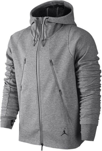 Nike Air Jordan Tech Fleece Hoodie Sweatpants Set Grey 688990-063 Sz ... 49946f454e06