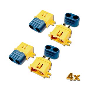 4x Original XT60L-M XT60 Male Einbaustecker Anbaustecker Lipo Akku Goldstecker