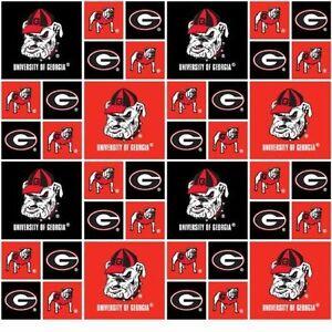 University Of Georgia Bulldogs College Team Cotton Fabric
