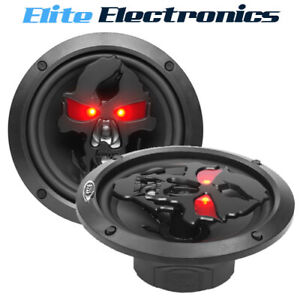"Boss Audio SK653B Phantom Skull 6.5"" 3-Way 350W Speakers Pair"