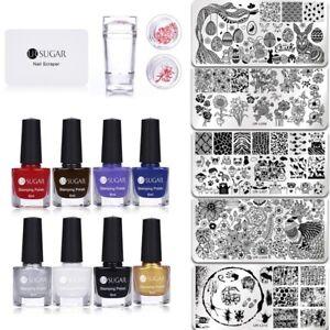 Image Is Loading Ur Sugar Nail Art Stamping Polish Stamp Plate