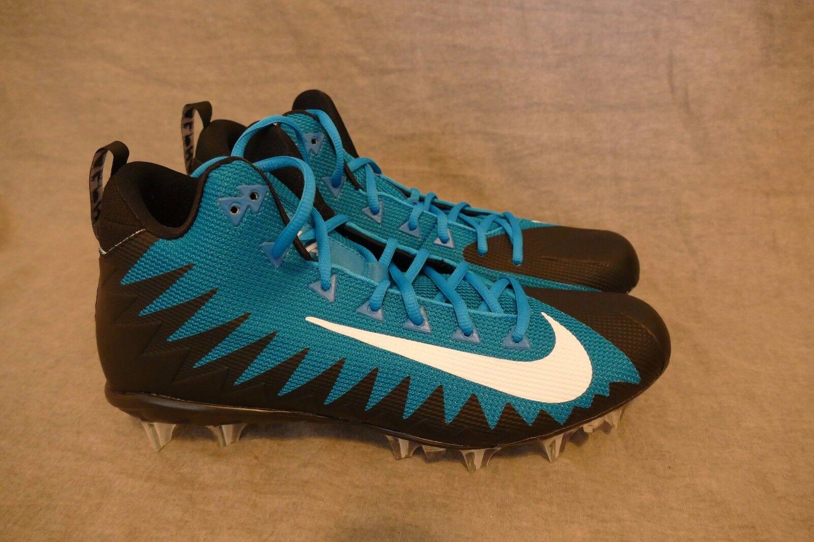 NEW NIKE ALPHA MENACE PRO MID NFL MEN'S FOOTBALL CLEATS 866012 405 Size 12.5