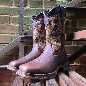 ea64ae7ced1 Details about DURANGO LADY REBEL WOMEN'S BROWN STEEL TOE WESTERN WORK BOOT  RD3315