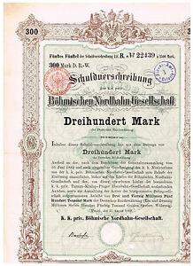 Boehmische-Nordbahn-Gesellschaft-Prag-1882-300-Mark