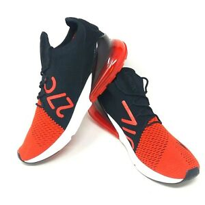 buy popular c0a7f 9b09f Nike Air Max 270 Flyknit Shoes Chili Red Black White Bred ...