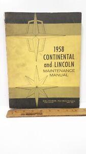 1958-LINCOLN-Continental-Original-Shop-Manual-Good-Condition-US