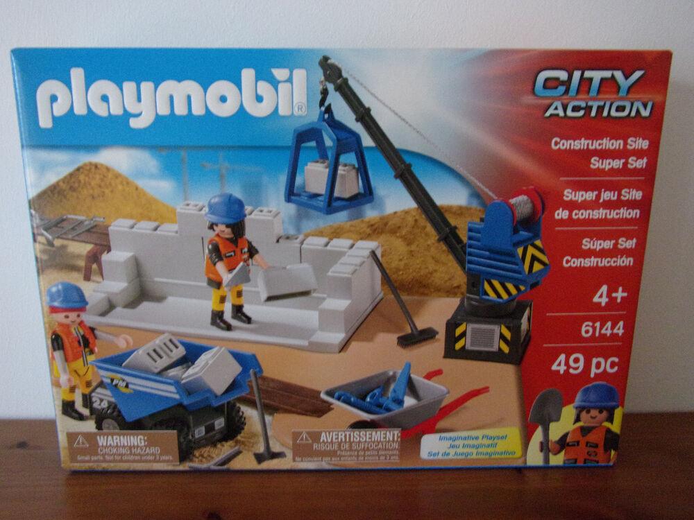 Playmobil City Action Super Set 6144 Chantier - Neuf Et Emballage D'origine