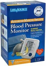 LifeSource Advanced Blood Pressure Monitor Manual Inflate UA-705VL 1 Each