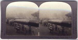 Grande-Guerre-Trophes-Canons-Allemagne-WW1-Stereo-Photo-Vintage-argentique