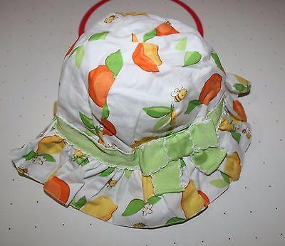 GYMBOREE 0-3 3-6 MONTH COTTON BOW SUNHAT ~ LEMON BUMBLEBEE SUMMER SUN HAT
