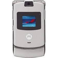 Motorola RAZR V3 - Silver Unlocked GSM Basic Flip Cell Phone Worldwide Phone