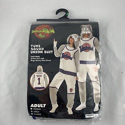 Space Jam Union Suit Mens LARGE One Piece TUNE SQUAD Bugs Bunny PAJAMAS Costume
