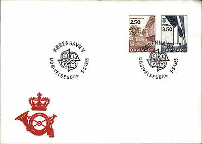 GemäßIgt Ersttagsbrief Fdc First Day Cover Dänemark Marken Europa 1983 Stempel Kobenhavn Briefmarken Briefmarken