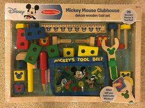 NEW-Disney-Mickey-Mouse-Deluxe-Wooden-Tool-Set-Melissa-and-Doug