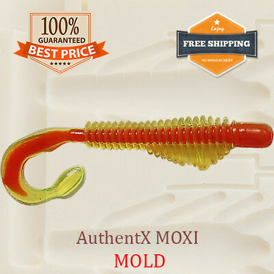 Saturn Micro Bait Mold G Tail Grub Fishing Soft Plastic Lure 36-100 mm
