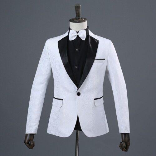 Men/'s Coat Suit Jacket Tuxedo Elegant Floral Design For Parties And Event New