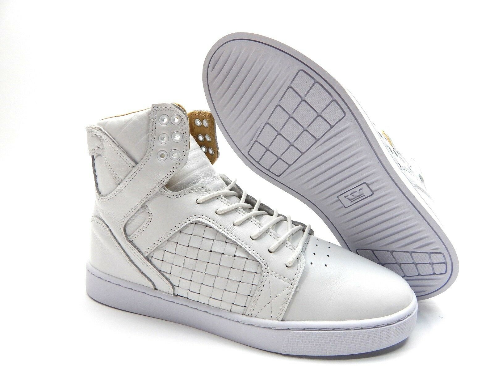 SUPRA SKYTOP LX blanc blanc hommes ChaussuresSIZE 9.5, 11 & 12